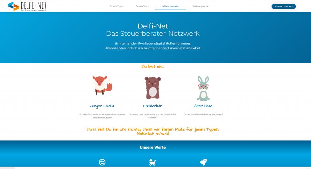 Screenshot delfi-net Kanzleien
